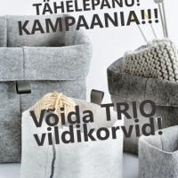 50€ OST = TRIO vildikorvide komplekt!*