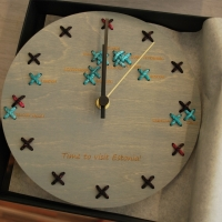 Embroidered round clocks