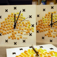 Embroidered clocks