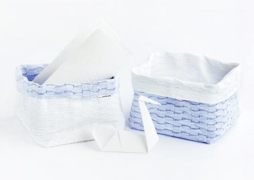 FLY basket white+light blue
