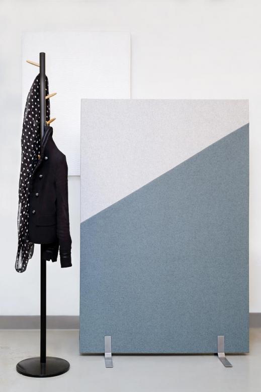 HARLEQUIN room divider, ivory+soft blue