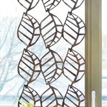 WOODEN LACE room divider/curtain<br> with large leaf