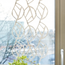 WOODEN LACE room divider/curtain<br> with small leaf