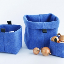 TRIO-3S set of felted baskets <br>(XS + S + M)