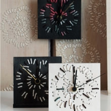 EMBROIDERED TIME small clock