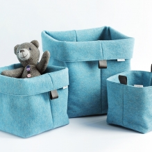 TRIO-3 set of felted baskets <br>(S + M + L)